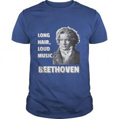 Ludwig Van Beethoven Long Hair, Loud Music T-Shirts, Hoodies, Sweatshirts, Tee Shirts (19.99$ ==► Shopping Now!)