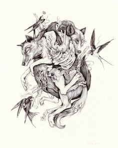 The Undoing Limited Print W Tattoos Art - The Undoing Limited Print Marca Beautiful Detailed Drawings By Portland Based Artist Christina Mrozik Captivate And Intrigue The Soul And Psyche With A Humble Perspective And Penchant For E Ballpoint Pen Drawing, Desenho Tattoo, Dark Art, Art Inspo, Line Art, Fantasy Art, Cool Art, Art Drawings, Tattoo Designs