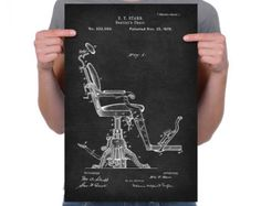 Vintage 1879 Dentists Chair Art Print Poster or by UltraPrint