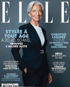 Christine Lagarde on the cover of Elle France March 2019 French People, Executive Fashion, Elle Magazine, Magazine Covers, Destin, Change, Cover Photos, Digital, Instagram