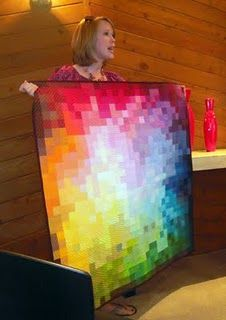 Pixelation (Not really an optical illusion)    Salt Lake Modern Quilt Guild quilts