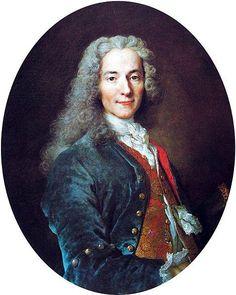 Nicolas de Largillière (1656–1746)    ;   François-Marie Arouet known as Voltaire Depicted person: François-Marie Arouet (1694–1778), known as Voltaire, French Enlightenment writer and philosopher; between circa 1724 and circa 1725; oil on canvas;  81 × 65 cm (31.9 × 25.6 in);  Palace of Versailles .