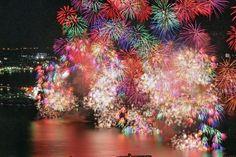 Fireworks at Lake BIwa, Japan 琵琶湖花火大会 はなび