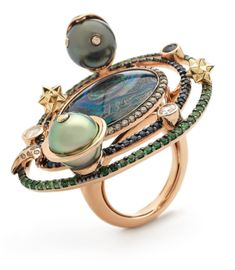 bibi van der velden big galaxy opal ring