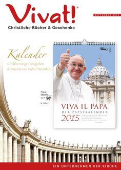 #Vivat! #Katalog für #August 2014 - #Kalender, #Glauben, #Belletristik, #Dekoration, #Bibel, #Papst u. v. a.