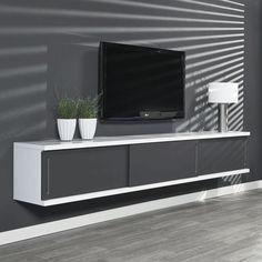 Grijs tv meubel zwevend Giani Laret 240 G | Onlinedesignmeubel.nl
