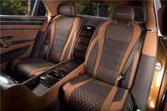 Bentley Continental Flying Spur by Mansory / cc / 900 PS / 811 ft/lb Nm) @ / biturbo / AWD / 0 – 62 mph km/h): s / Vmax: 211 mph km/h) Custom Car Interior, Car Interior Design, Truck Interior, Car Interior Upholstery, Automotive Upholstery, Vehicle Upholstery, Vw Pointer, Bentley Interior, Leather Car Seat Covers
