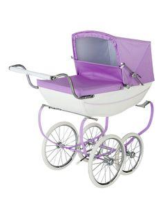 Silver Cross Oberon Sparkle Purple Dolls Pram 4 Pieces Exclusive Bundle, One Colour - One Colour - Pram Toys, Dolls Prams, Silver Cross Prams, Vintage Pram, Vintage Toys, High Gloss Paint, Prams And Pushchairs, Snow Fairy, Baby Arrival