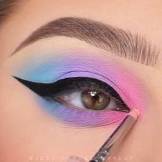 Cotton candy blend - Cotton candy blend , , blend … Fabulous Pink Eyeshadow makeup Id - Eye Makeup Steps, Eye Makeup Art, Colorful Eye Makeup, Skin Makeup, Makeup Inspo, Pastel Makeup, 40s Makeup, Makeup Eraser, Beauty Makeup
