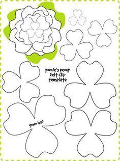 Template felt flowers