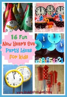 16 Fun New Year's Eve party ideas for kids #newyearseve, #partyideas