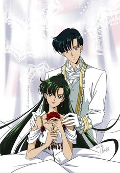 Mamoru and Setsuna I do not ship these two but Setsuna looks so pretty so I had to re-pin.