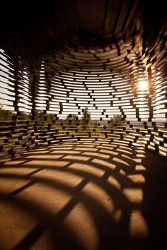See-through church in Limburg/Belgium by Gijs Van Vaerenbergh, a collaboration between Belgian architects Pieterjan Gijs and Arnout Van Vaerenbergh.