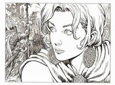 Planche originale de bande dessinée, galerie Napoléon  : SAGA VALTA - Importante illustration SAGA VALTA tome 3 par Mohamed AOUAMRI  -