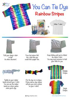 tie dye patterns instructions - Google Search                                                                                                                                                      More
