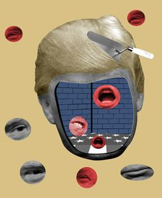 Donald Trump portrait. Isabel Espanol illustrations http://www.isabelespanol.com/