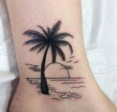 Vacation on The beach, tatto