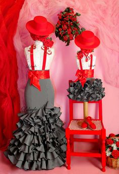 MAMÁ CON NIÑA Spanish Party, Strapless Prom Dresses, Barbie, Carnival Costumes, Draped Dress, Cool Outfits, Clothes, Style, Black Opal