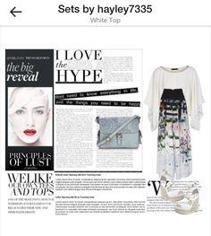 White top #fashion #polyvore