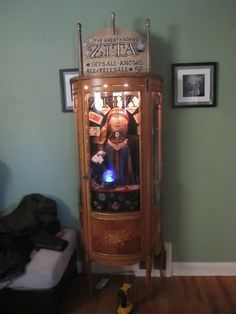 They turned their curio cabinet into a fortune telling machine prop~how great is this!!!