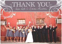 Gray Bridesmaids with Black Guys