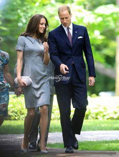 Kate Middleton Grey Dress for Tree Planting Ceremony
