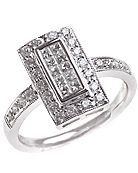 rectangle diamond ring - Google Search