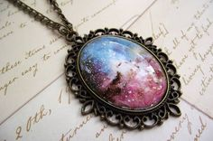 vintage inspired #Nebula necklace. #Galaxy