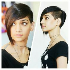Short bob with undercut, edgy and cool