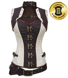 Large Selection of Steampunk Corsets from a variety of designer. Off the shelf Steampunk Corsets and bespoke made to order. Mail Order or visit our Portsmouth Steampunk Shop. Corset Steampunk, Steampunk Outfits, Steampunk Cosplay, Victorian Steampunk, Steampunk Clothing, Steampunk Necklace, Renaissance Clothing, Pirate Corset, Steampunk Halloween