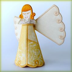 3D Christmas Angel - DigiDoodlez Embroidery Machine Designs