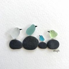 Glass Art Diy Crafts - Basteln - glass crafts for kids Sea Glass Crafts, Sea Glass Art, Seashell Crafts, Sea Glass Jewelry, Beach Crafts, Stained Glass, Stone Crafts, Rock Crafts, Diy Crafts