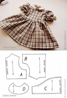 Sewing toys free pattern doll clothes 54 ideas for 2019 Baby Clothes Patterns, Doll Dress Patterns, Doll Sewing Patterns, Baby Patterns, Clothing Patterns, Pattern Sewing, Sewing Doll Clothes, Baby Doll Clothes, Sewing Dolls