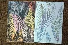 Black Crayon and Chalk art project - create two different images by drawing only once