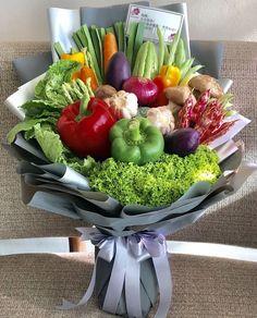 Vegetables Bouquet, You are in the right Vegetable Bouquet, Vegetable Basket, Food Bouquet, Gift Bouquet, Edible Arrangements, Flower Arrangements, Chocolate Flowers Bouquet, Edible Bouquets, Deco Floral