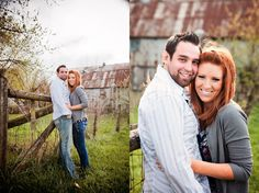 Adorable engagement session on a farm, love the barn in the background!  super cute couple!