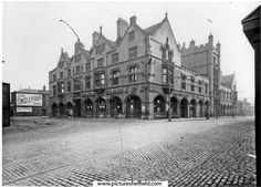 Corn Exchange including Maunche Hotel, Duncan Gilmour and Co. Ltd., Exchange Street, left