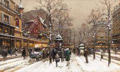 Eugène Galien-Laloue Paris Moulin Rouge 2 - Kategória: Festmények párizsi utcák Eugène Galien-Laloue - Wikimedia Commons