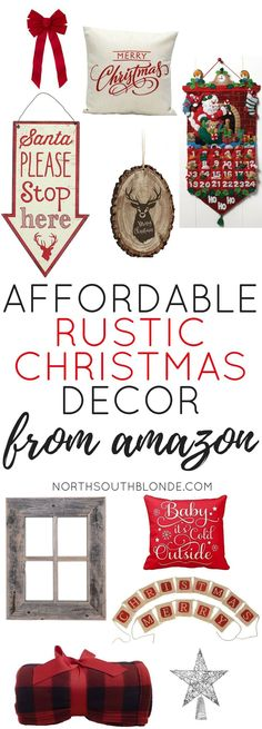 I love these affordable, rustic Christmas decorations that don't break the budget!