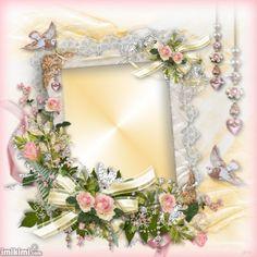12dxi-1cd Rose Frame, Flower Frame, Picture Borders, Creative Flower Arrangements, Scrapbook Frames, Freebies, Decoupage Vintage, Floral Artwork, Borders And Frames