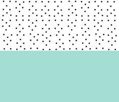 Shabby Chic Stripes XL FQ -mintl black polka dots fabric by drapestudio on Spoonflower - custom fabric