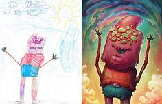 孩子的創意比想像中無限大:藝術家重建兒童怪獸塗鴉計劃