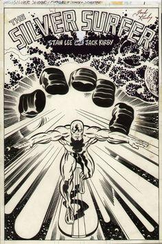 Pen and Ink: SILVER SURFER, Jack Kirby (Penciller), Joe Sinnott (Inker)