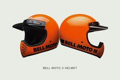 The new Bell Moto 3 helmet in orange: Vintage style at its finest—and about to start shipping.