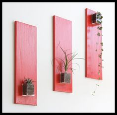triptyque rouge Floating Shelves, Garden, Home Decor, Triptych, Red, Garten, Decoration Home, Room Decor, Wall Storage Shelves