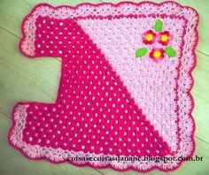 Jogo de banheiro diagonal rosa