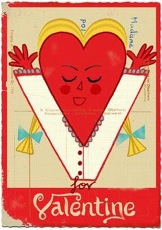 V for Valentine by Paul Thurlby, via Flickr