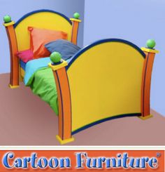 Whimsical Painted Furniture | cartoon furniture earlier collection vincent lehman s dust furniture ...