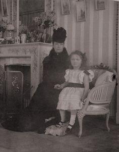 Dowager Empress Marie Feodorovna and her grand daughter Grand Duchess Olga Nikolaievna