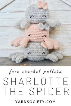 Free Spider Crochet Pattern Sharlotte The Spider amigurumi pattern is a perfect beginner project! Pattern includes clear instructions and tons of pictures to help you along the way. Crochet Amigurumi Free Patterns, Crochet Doll Pattern, Crochet Dolls, Quick Crochet, Cute Crochet, Crochet Crafts, Amigurumi For Beginners, Crochet For Beginners, Hairpin Lace Crochet